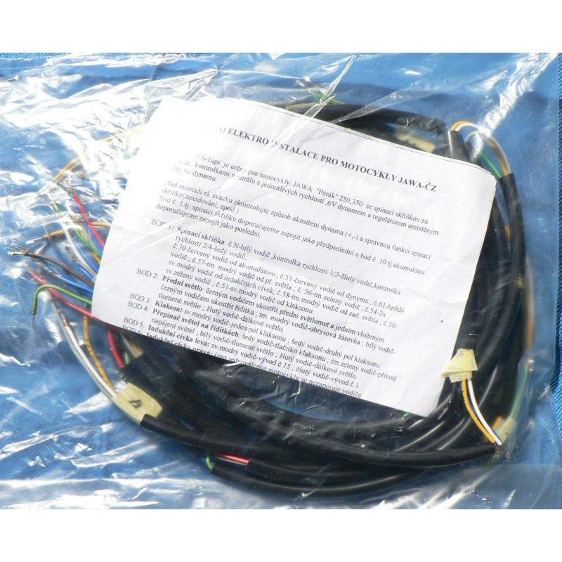 wiring harness jawa perak kyvacka switch box in fuel tank
