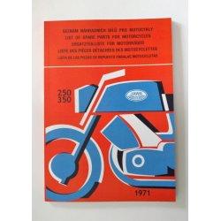 Katalog náhradních dílů - Jawa 623, 633 Bizon